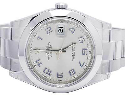 $ CDN13267.32 • Buy Brand New Mens Rolex Datejust II 41MM 116300 Oyster S.Steel Arabic Dial Watch