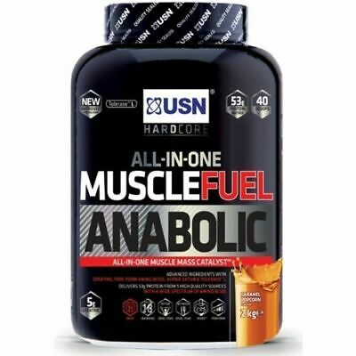 Usn Muscle Fuel Anabolic 2kg 4kg All In One Protein Powder & Lean Muscle Shake • 30.99£