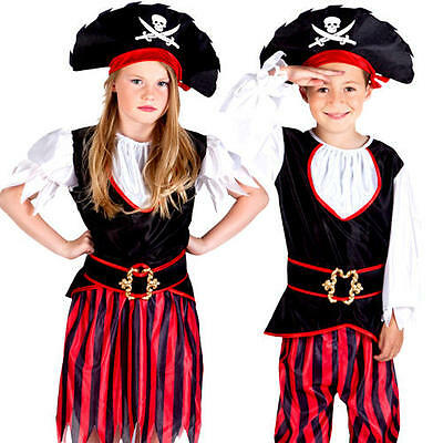 Pirate Kids Fancy Dress Caribbean Buccaneer Book Day Week Childrens Costumes New • 12.99£