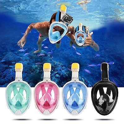AU29.88 • Buy Swimming Diving Breath Full Face Mask Surface Snorkel Scuba For GoPro S/M/L/XL.