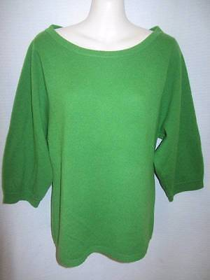 $17.95 • Buy Madison 100% Cashmere Green 3/4 Sleeve Sweater May Fit M