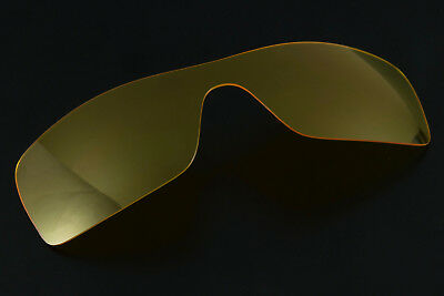 $14.99 • Buy Clear Yellow Low Lighting / Night View Shield Lens For Oakley Batwolf Sunglasses