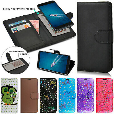 Universal Flip Wallet Leather Magnetic Stand Case Cover For Various Phone Models • 3.49£