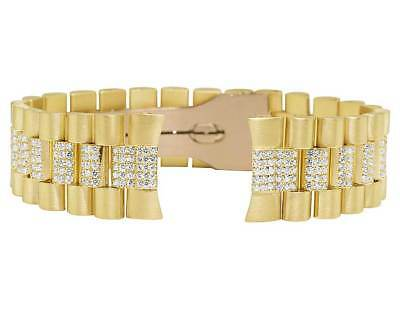 $ CDN11842.19 • Buy Mens President VS Diamond Watch Band For Rolex Day-Date In 14K Yellow Gold 7.5Ct