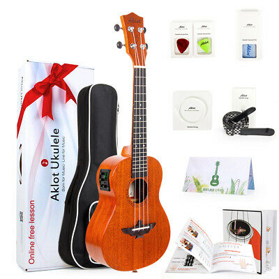 AU83.99 • Buy Aklot Ukulele Tenor Solid Mahogany Electric Ukelele Uke Hawaii Guitar 26 Inch