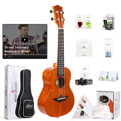 AU80.99 • Buy Aklot Ukulele Tenor Concert Soprano Solid Mahogany Ukelele 9 In 1 Beginner Kit