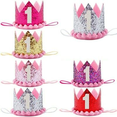 £12 • Buy Baby 1st  Birthday Crown Hat Cake Smash Outfit Party Photoshoot Girls Dress UK