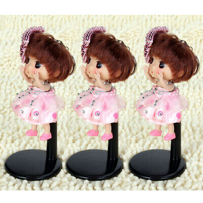 3x Metal Doll Stands For Dolls Teddy Bear Display Base Black 11-14cm • 4.65£