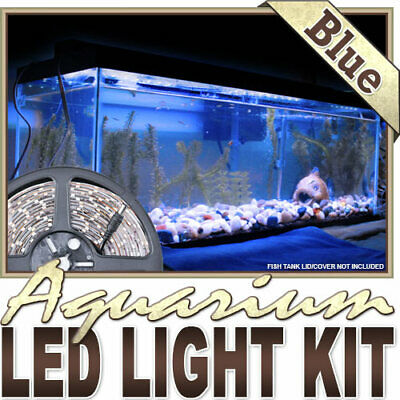 AU24.44 • Buy Aquarium Reef 455nm Blue Remote Controlled LED Strip Lighting SMD3528 Wall Plug