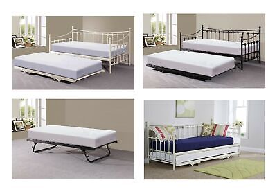 £214.95 • Buy Memphis Metal Guest Day Bed With Pull Out Trundle (Optional) - Black Or Ivory