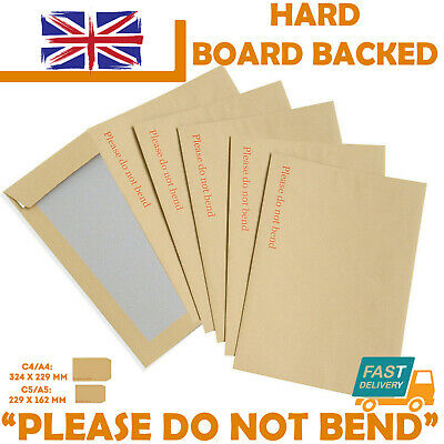 £1.05 • Buy Hard Card Board Back Backed Envelopes  Please Do Not Bend  Manilla Brown Rigid