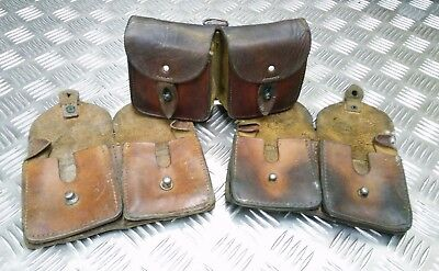 Genuine Vintage Military Issue Double Leather Ammo / Utility Pouch - Used • 24.99£