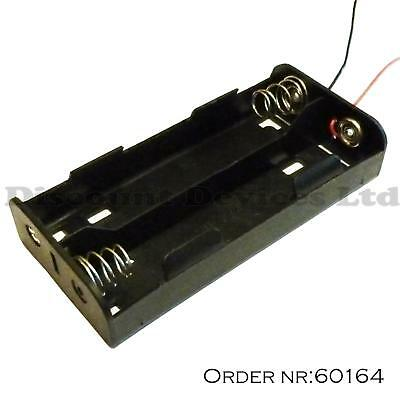 C Type X 4 Battery Holder Black With 12cm Leads • 2.48£