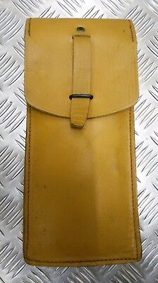 Genuine Vintage Military Issue Leather Ammo / Utility Pouch Light Brown / Tan • 12.99£