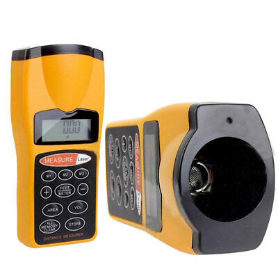 Range Distance Meter Tool Ultrasonic Laser LCD Beam Pointer Digital Measurer • 11.57£