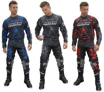 Wulfsport V20 Adult Motocross Jersey Pants Clothing Suit Off Road Quad Combo Set • 65.99£