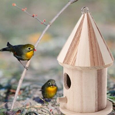 Wooden Small Bird Cage House Hanging Nest Nesting Box For Home Garden Decor • 2.92$