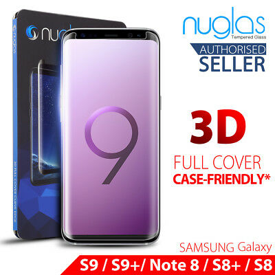 AU8.95 • Buy For Samsung Galaxy S9 S8 Note 9 8 NUGLAS Full Tempered Glass Screen Protector
