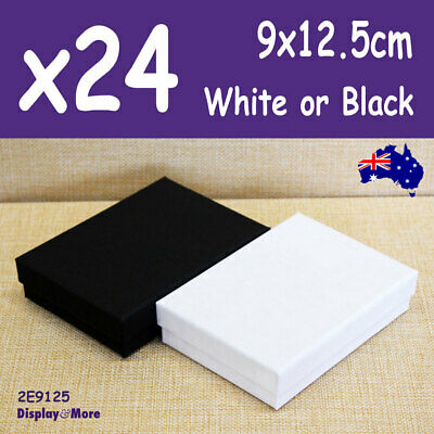 AU38.90 • Buy Jewellery Box NECKLACE Case | 24pcs 9x12.5cm | PLAIN White Black | AUSSIE Seller
