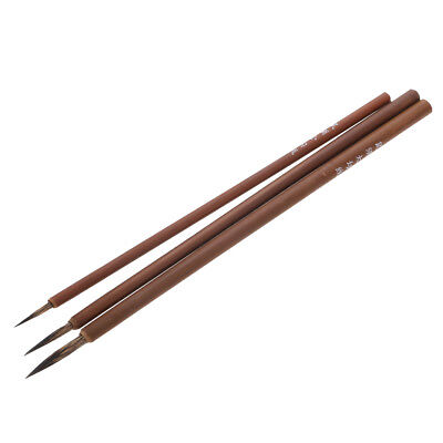 3pcs/Set Rat Whisker Chinese Calligraphy Watercolor Brush For Fine Painting • 3.94£