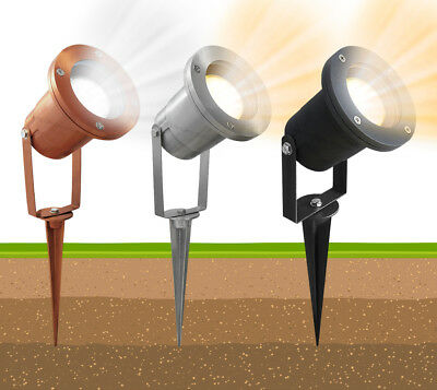 LED Garden Spike Lights Adjustable Outdoor Ground Spotlights IP65 GU10  • 9.99£