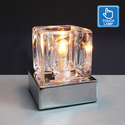 £13.99 • Buy Dimmable Touch Table Light Glass Ice Cube Bedside Study Office Dimmer Desk Lamp