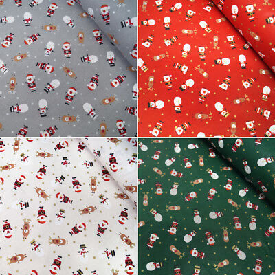 100% Cotton Fabric Lifestyle Christmas Characters Tumbling In Stars 140cm Wide • 4.50£
