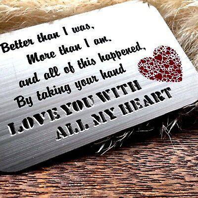 AU12.61 • Buy Gifts For Him Mens Her Valentines Day Mens Womens Love Romantic Engraved