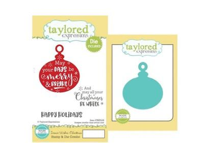 Taylored Expressions Cling Stamp(3) & Die(1) Set  ICONIC WISHES ~ CHRISTMAS ~230 • 20.69$