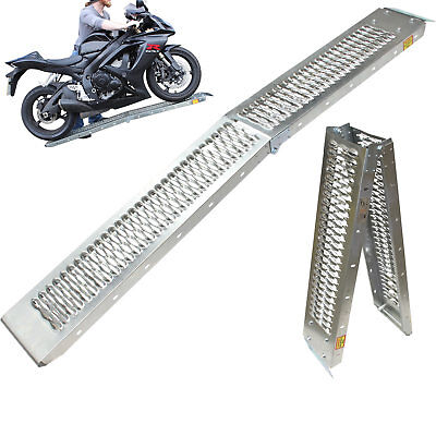 View Details Black Pro Range B5249 Folding Steel Motorcycle Ramp Van Loading Motorbike • 37.49£