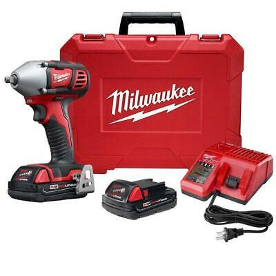Milwaukee 2658-22CT M18 18-Volt 3/8-Inch Impact Wrench W/ Batteries • 249$