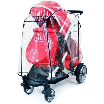 ISafe Tandem Raincover To Fit - Hauck Duett 2 Twin Stroller • 13.95£
