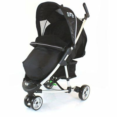 £19.95 • Buy New Black Footmuff To Fit Quinny Zapp Buggy And Petite Star Zia Obaby Zoma Hauck
