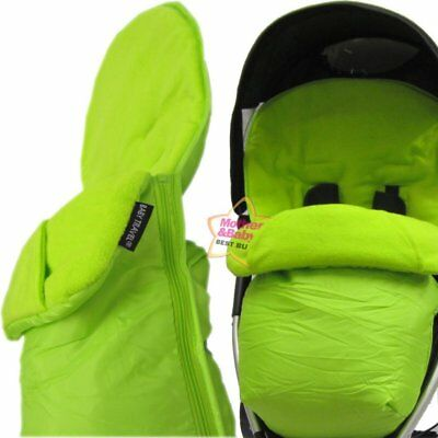 £11.95 • Buy New Footmuff Lime Green With Pouches Fits Quinny Zapp Petite Star Zia