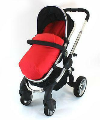 Cosy Toes With Pouches Stroller Liner For ICandy Peach Pear Apple Pram (lite) • 13.95£