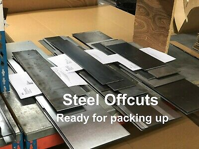 CLEARANCE Mild Steel SHEET Plate OFFCUTS Offcuts Factory Guillotine Cut MIXED • 5.72£