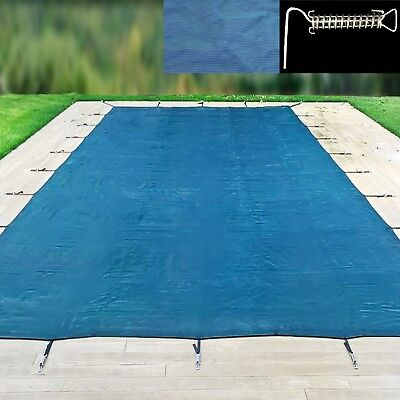 24ft X 14ft Winter Debris Cover Swimming Pool In-Ground Steel P-Spring Fixings  • 408£