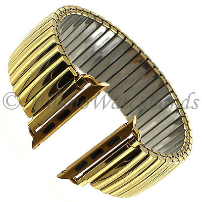 $ CDN85.59 • Buy 42mm Milano Shiny Gold Tone Stainless Steel Mens Band Fits Apple Watch Series1&2