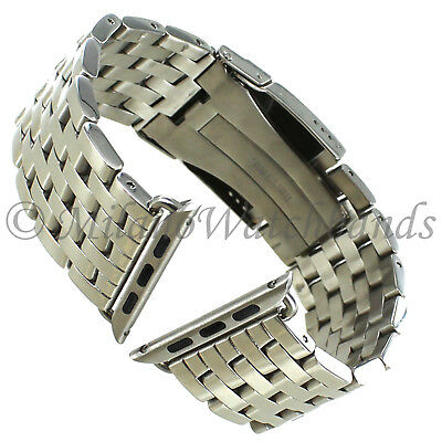 $ CDN111.55 • Buy 42mm Milano Solid Link Shiny Stainless Mens Band FITS APPLE WATCH SERIES 1&2