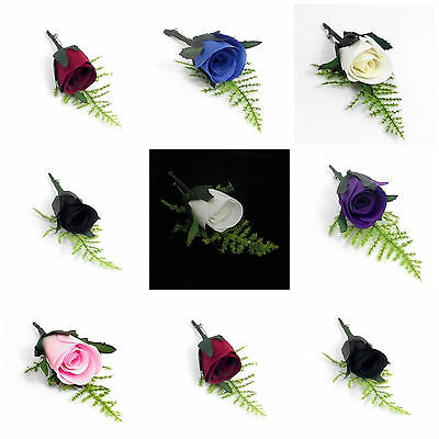 £1.89 • Buy Artificial Romance Bridal Button Hole Corsage Complete With Lapel Pin Colours ML