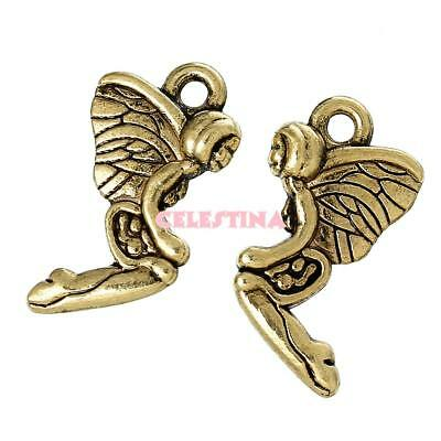 £1.24 • Buy 25 Fairy Charms - Fairies - 3D Angels Tinkerbell 20mm X 11mm