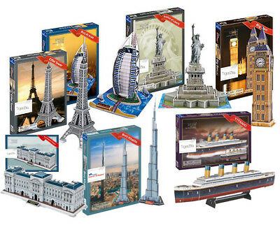 3D Puzzles Models Buckingham Palace Empire State Space Shuttle Tower Of London • 9.97£