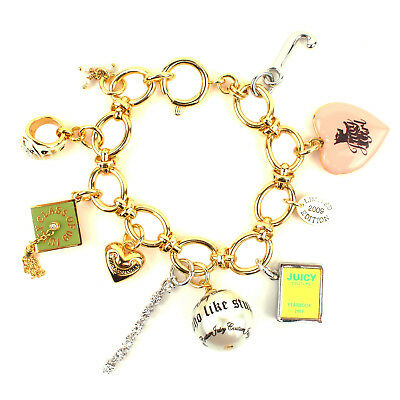 100% Authentic Juicy Couture 2009 Limited Edition Graduation Charm Bracelet • 100£