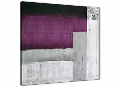 Purple Grey Painting Bathroom Canvas Accessories - Abstract 1s427s - 49cm • 24.99£