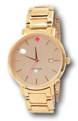 $ CDN75.48 • Buy Kate Spade Gramercy Women's 38mm Rose Gold Tone Stainless Watch 1YRU0641