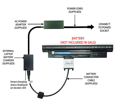 External Laptop Battery Charger For Dell Inspiron 3421 3521 3721 5421 5521 XCMRD • 52.98£
