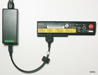 External Laptop Battery Charger For Lenovo X200 X201, 42T4534 43R9254 42T4564 • 52.98£