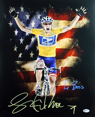 £163.61 • Buy Lance Armstrong  Le Boss  Authentic Signed 16X20 Photo BAS Witnessed #I94085
