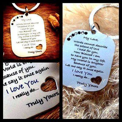 Gifts For Mens Him Her Womens I Love You Romantic Husband Boyfriend Partner • 6.99£