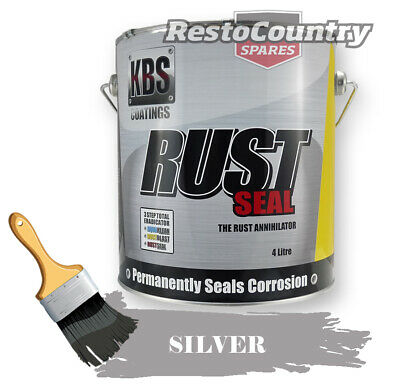 AU257 • Buy KBS RustSeal SILVER 4 Litre Rust Seal Paint Rust Preventive Coating Four
